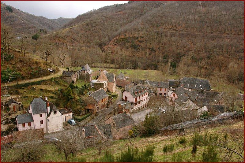 Het dorp ''beneden'', Grand Vabre.
