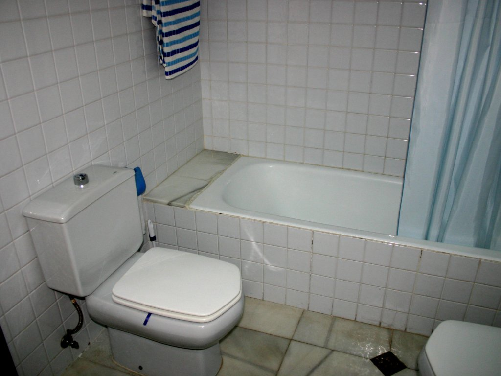 bathroom with bath, shower, toilet and bidet