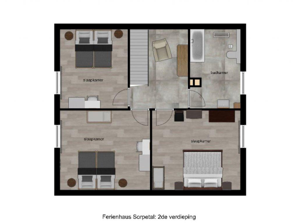 plattegrond 2de verdieping